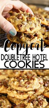 Copycat DoubleTree Hotel Cookies are a thick & chewy chocolate chip cookie just …