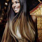 Lange glatte Haarschnitte