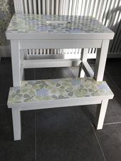 Paletten von IKEA wurden mit Tapeten aus Duros Kollektion Gamm … ,  #aus #DIYLager #Duros #…