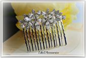 Bridal Rhinestone Hair Comb Bridesmaid Hair Comb Wedding Flower Hair Comb Bridal Hair Accessories Bridal Headpiece Bridal Vintage Hair Comb