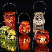 Halloween Deko mit Laternen
