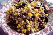 Kidneybohnen – Salat mit Thunfisch und Käse – Salat