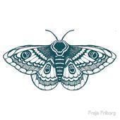 Motten T Shirt Von Freja Fribourg In 2020 Inspirierende Tattoos Motten Tattoo Linolschnittdrucke