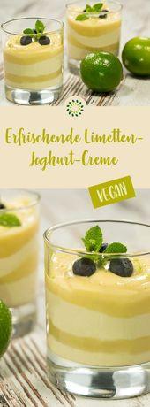 Erfrischende Limetten-Joghurt-Creme