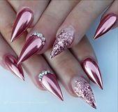 50 atemberaubende Stiletto-Nagelideen, die Ihre Welt rocken werden #stiletto #stilettonai …   – Stiletto nails