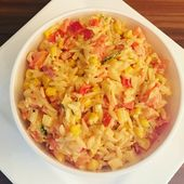Kritharaki salade un délicieux plat d'accompagnement barbecue   – Essen