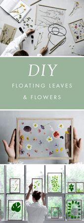 DIY Gift for the Office – DIY Floating Leaves And Flowers – DIY Gift Ideas for Y…
