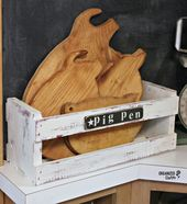 "Thrift Shop ""Four Little Pigs"" Cutting Boards"
