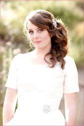 Brautfrisur Schulterlange Haare – #brautfrisur #ha…