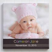 Baby Photo Canvas Print 20×20 – Little Memories – babys HD