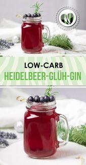 Low Carb Blueberry Gin Gin   – Leckere Low Carb Rezepte – schwarzgrueneszebra