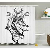 East Urban Home Gray Bat with Moons Spiritual Single Shower Curtain  – Products