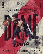 """Let 's Rumble"" 2019 NBA Playoffs auf Behance   – Poster design"