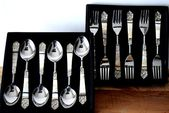 Islamic Decorative Marble Silver Cutlery Set, Stai…
