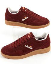 Ellesse Calcio Trainers Burgundy Gum Ellesse Shoes Ellesse Shoes Mens