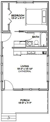 16×30 Tiny House — #16X30H2A — 480 sq ft – Excel…