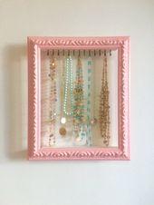 Shabby Chic Jewelry Organizer, Jewelry Storage, Necklace Hanger, Jewelry Holder, Jewelry Display, Gi