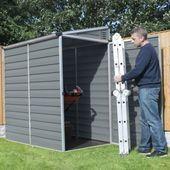 Palram 4×6 Lean-To Skylight Shed Kit mit Boden – Grau (HG9600T) – #boden # hg9600 …   – Pultdach Anbau