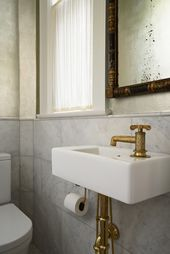 Crazy And Beautiful Tiny Powder Room With Color And Tile (20) – Onechitecture