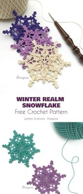 Collection of Free Snowflake Crochet Patterns