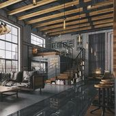 Modernes Loft mit industriellen Eigenschaften. #Dachgeschoss