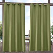 Exclusive Home Indoor/Outdoor Solid Cabana Grommet Top Curtain Panel Pair White