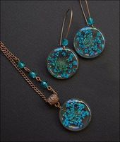 Resin necklace pendant and earrings. Harzschmuck Schmuck – # resin necklace pendant # resin …   – Harz