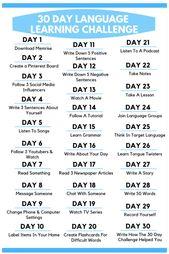 30-tägige Herausforderung zum Sprachenlernen