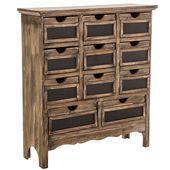 Braunes Rustikales Kabinett mit Schubladen – Decor