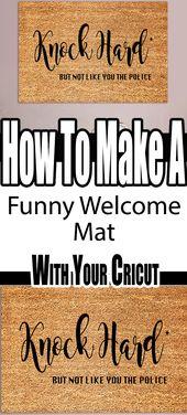 How To Make A Custom Outdoor Mats Using Your Cricut