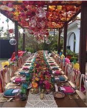 Colorful boho wedding decoration for the wedding   – Bunte Hochzeit – fröhliche Farben für eine moderne Hochzeit