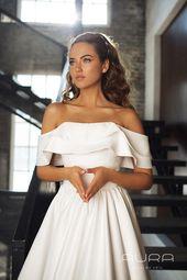 Bröllopsklänning 'KAMILLA' / satin bröllopsklänning