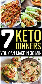 Recetas fáciles de cena Keto! Estas cenas ceto rápidas solo te llevarán 30 minutos …