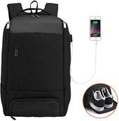 Amazing offer on Business Laptop Backpack Shoe Compartment, MarsBro Travel Sport Gym Work Computer Bag USB Charging Port, Insulation Pouch Fits 17.3 Inch Laptop Men(17.3Inch-Black) online