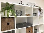 Viel Platz für viele Ideen ❕ Aktuell nutzen wir das offene Regal als Stauraum… – Wohnzimmerideen