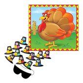 '' Pin the Hat '' Türkei Spiel | Thanksgiving-Dekorationen – PTO 19-20