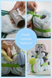Baby Shower Haul Windelmotorrad Anleitung: Cooles Windelmotorrad basteln. Perfektes DIY Babygesch...