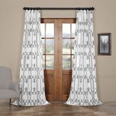 Royal Gate Off White & Silver Designer Flocked Curtain