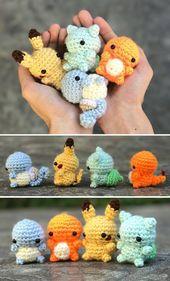 Kleine Pokemon Original Starter Mützen #klein #knitbeanie #mutzen #original # …