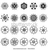Henna tattoo flower template. Mehndi style. Set of ornamental patterns in the or… #diytattooimages – diy tattoo images