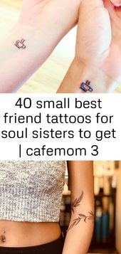 40 small best friend tattoos for soul sisters to get | cafemom 3