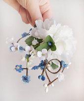 blaue Hochzeit Haarschmuck, blaues Haarteil, Hochzeit Haarspange, vergiss mich nicht Haarspange, Lilie von
