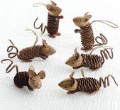 Mäuschen aus #Naturmaterialien #Herbstbasteln
