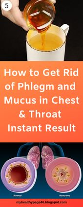 How to Get Rid of Phlegm and Mucus in Chest & Throat (Instant Result) 1