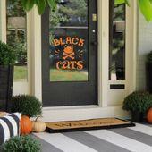 Black Cats Only Halloween Decor – Front Door Decor – Indoor Decor