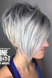 Coiffures Bob inversées pour des cheveux fins qui vous rendent plus jeune – COIFFURE ZON …   – Hair