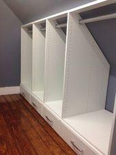 Attic Closets – Auburndale, Ma 02466 – Craftsman – Armoire et Dressing – Boston – par Rich Fairfull Custom Closet & Storage Design,Stéphanie Denis