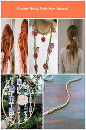 Braided Wavy Boho Hair Tutorial - A Beautiful Mess boho hair Braided Wavy Boho Hair Tutorial