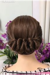 Hair styling for soft curly hair #frisurenflechten | Hair styles, Easy hairstyles for long hair, Hair upstyles    Hair styling for soft curly hair #fr…