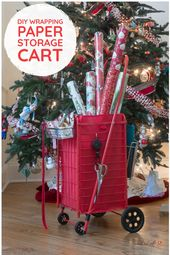 If you have dreams of organized gift wrap storage dancing in your head  along wi...